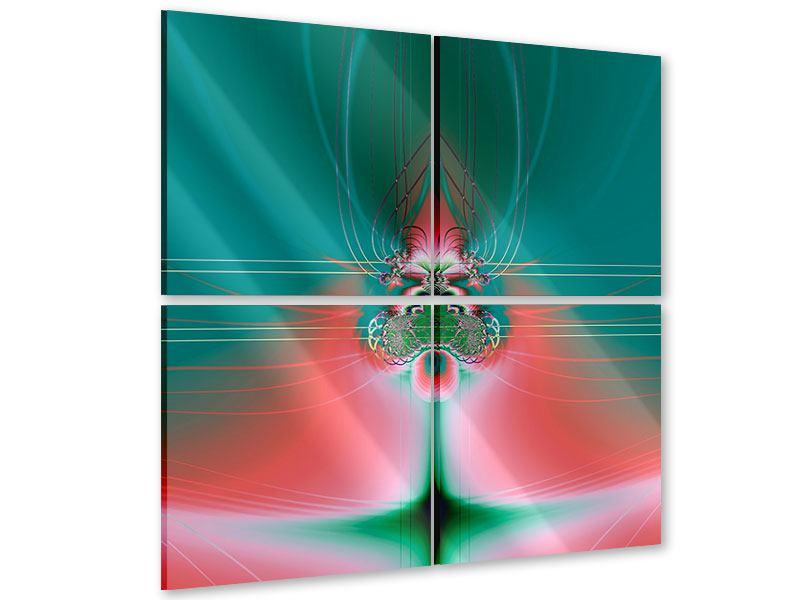 Acrylglasbild 4-teilig Fever