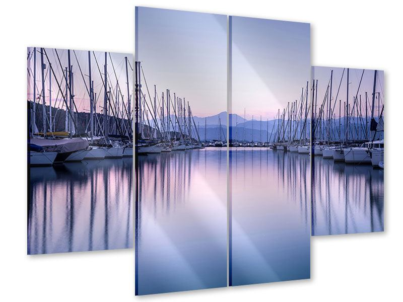 Acrylglasbild 4-teilig Yachthafen
