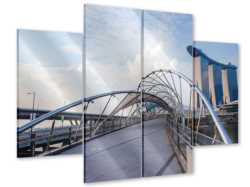 Acrylglasbild 4-teilig Helix-Brücke