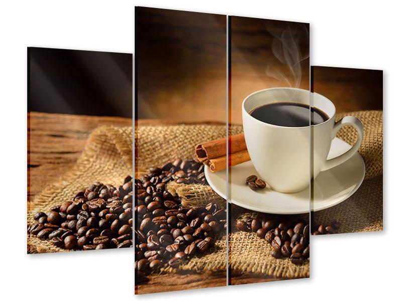 Acrylglasbild 4-teilig Kaffeepause