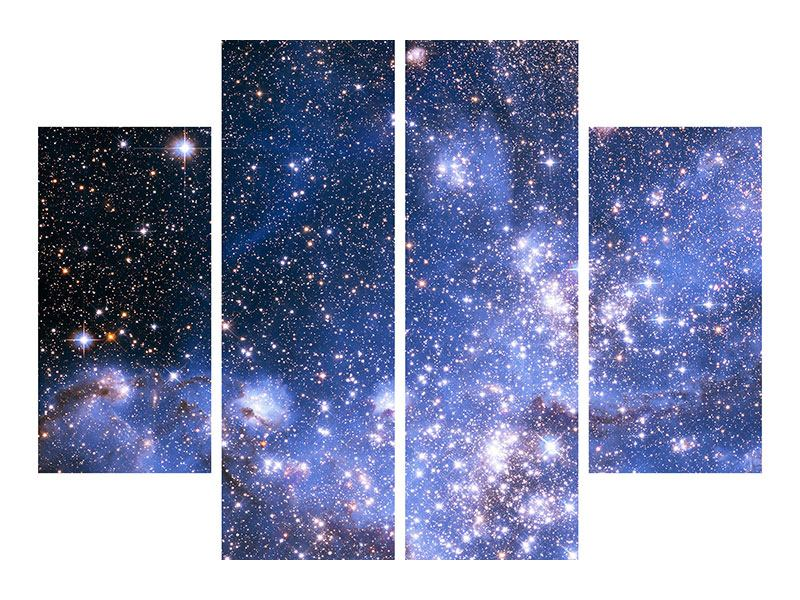 Acrylglasbild 4-teilig Sternenhimmel