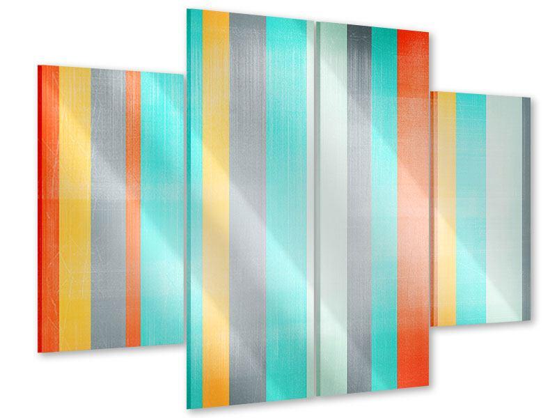 Acrylglasbild 4-teilig Grunge Streifen
