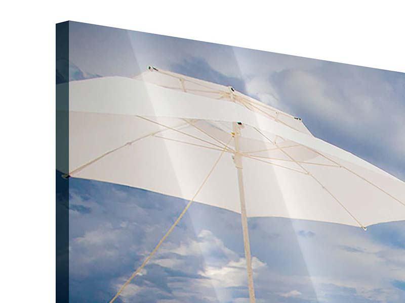 Acrylglasbild 4-teilig Liegen am Strand
