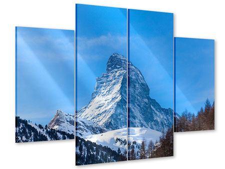Acrylglasbild 4-teilig Das majestätische Matterhorn