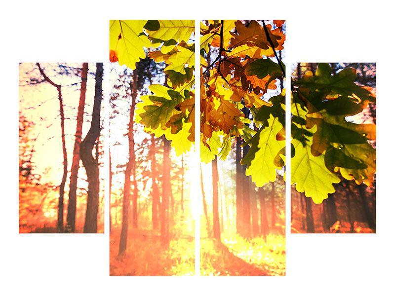 Acrylglasbild 4-teilig Herbst