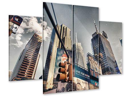 Acrylglasbild 4-teilig Times Square