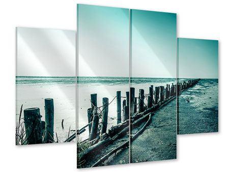 Acrylglasbild 4-teilig Das Wattenmeer