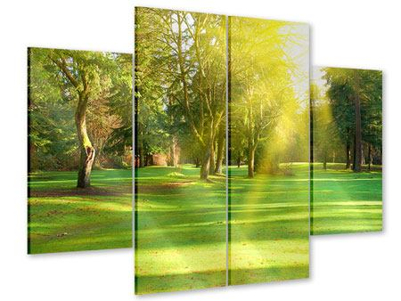 Acrylglasbild 4-teilig Im Park