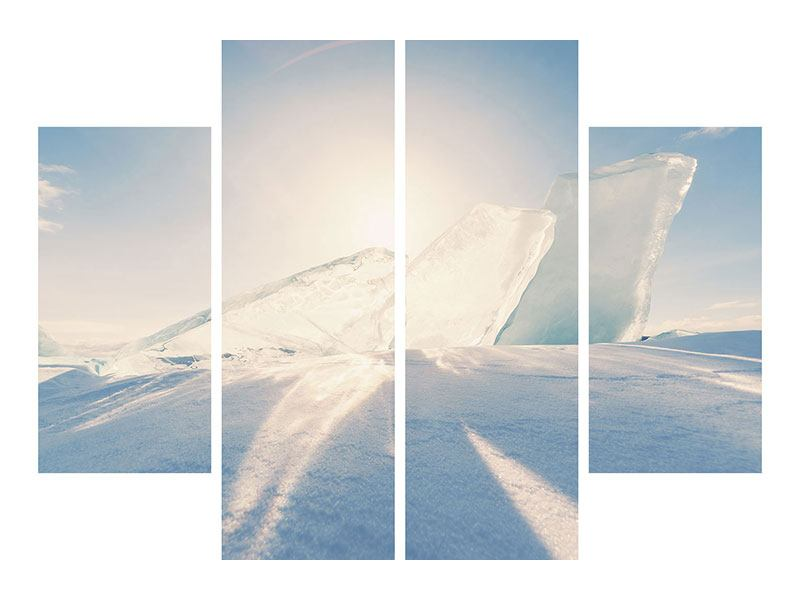 Acrylglasbild 4-teilig Eislandschaft