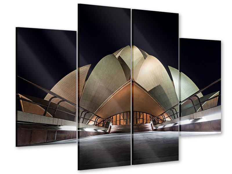 Acrylglasbild 4-teilig Der Lotus-Tempel