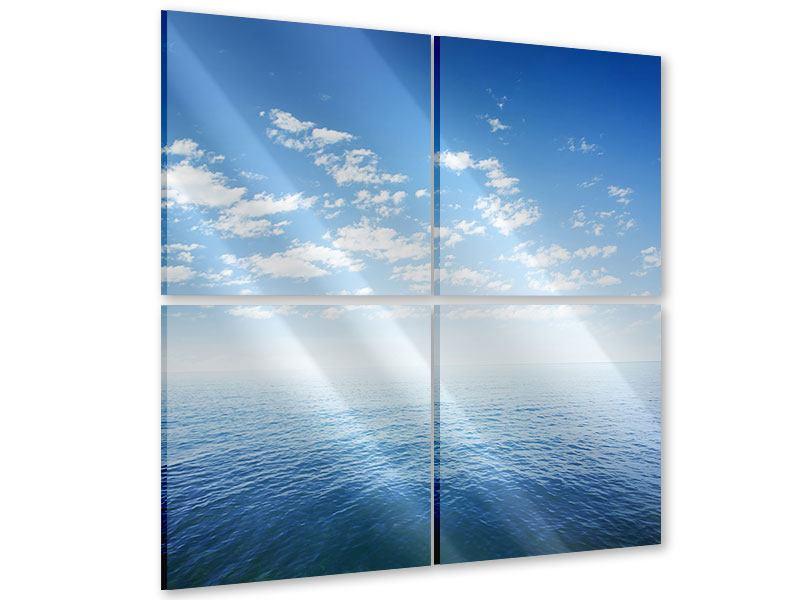 Acrylglasbild 4-teilig Unendlichkeit Meer