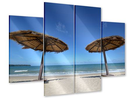 Acrylglasbild 4-teilig Umbrellas
