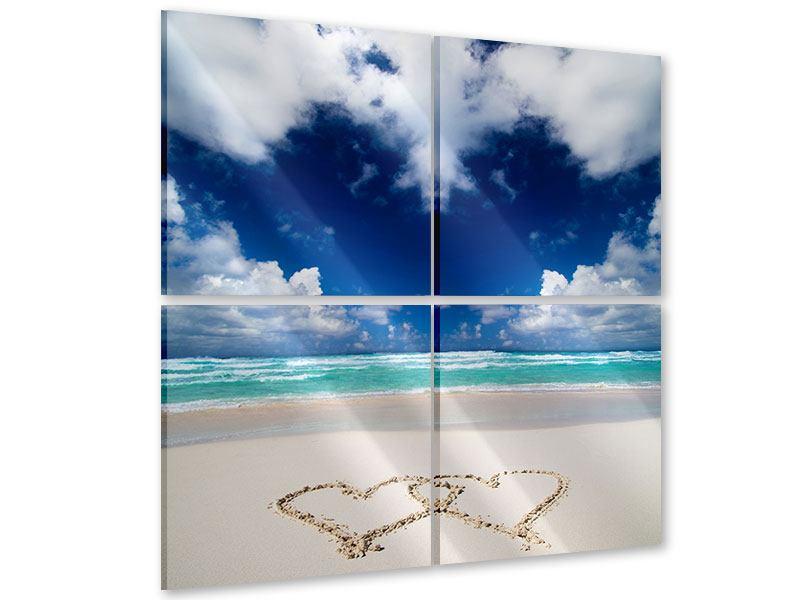 Acrylglasbild 4-teilig Strandliebe