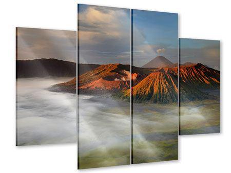 Acrylglasbild 4-teilig Der Bromo Vulkan