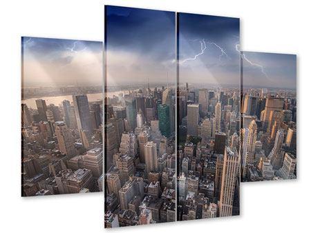 Acrylglasbild 4-teilig Manhattan