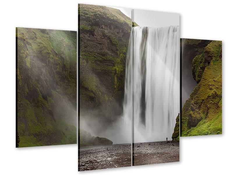 Acrylglasbild 4-teilig Skogafoss