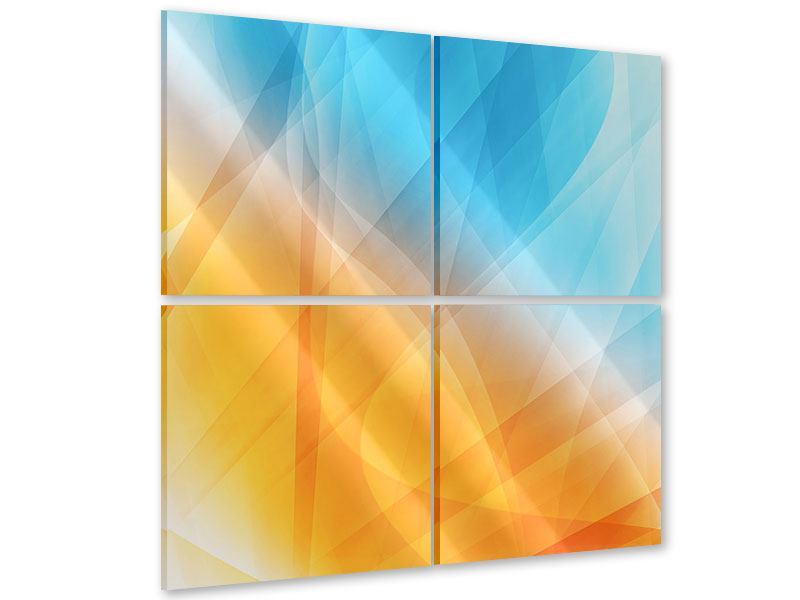 Acrylglasbild 4-teilig Abstrakte Fliessende Farben