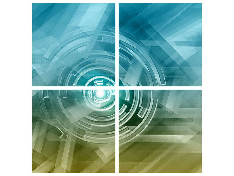 Acrylglasbild 4-teilig Future