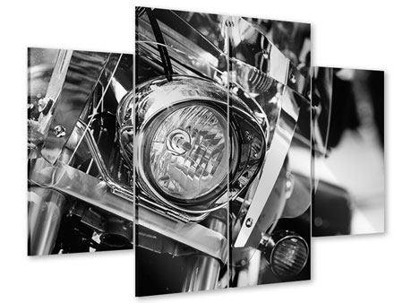 Acrylglasbild 4-teilig Motorrad Close Up