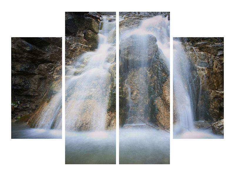 Acrylglasbild 4-teilig Imposanter Wasserfall