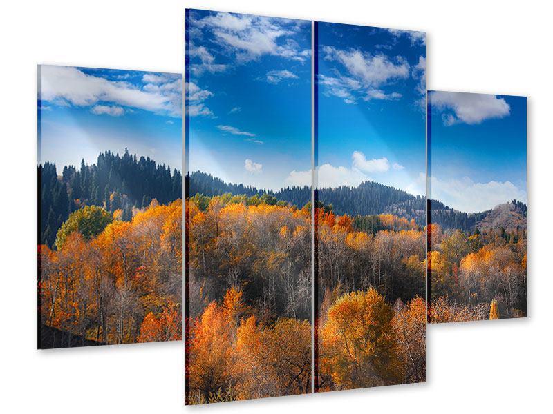 Acrylglasbild 4-teilig Wolken ziehen auf