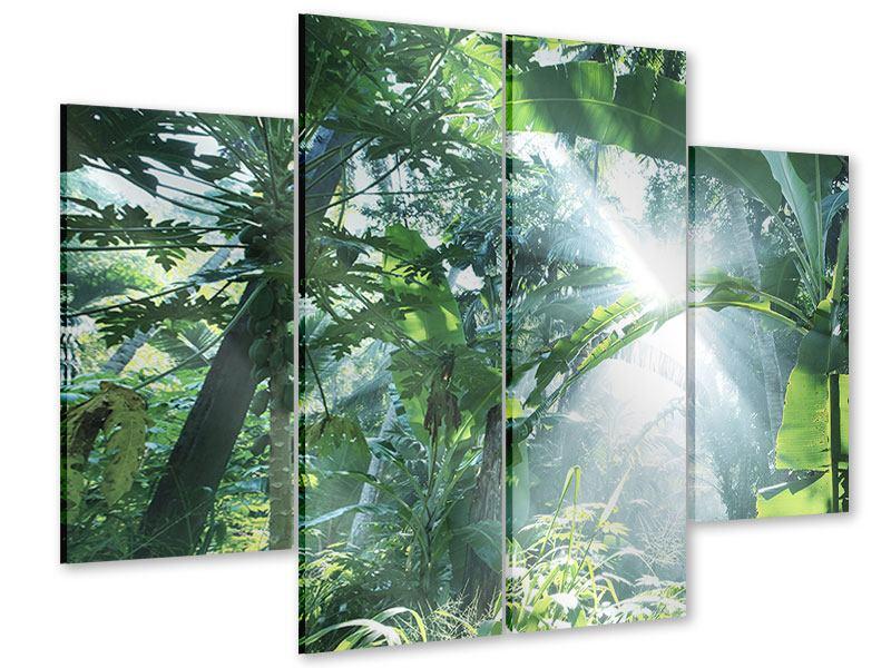 Acrylglasbild 4-teilig Dschungelstar