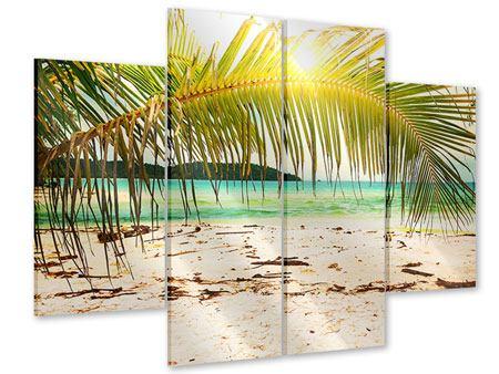 Acrylglasbild 4-teilig Ab in die Hängematte
