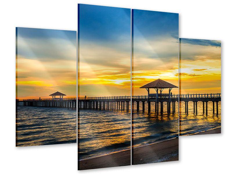 Acrylglasbild 4-teilig Brücke der Liebe