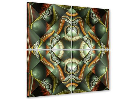 Acrylglasbild 4-teilig Fraktales Bild