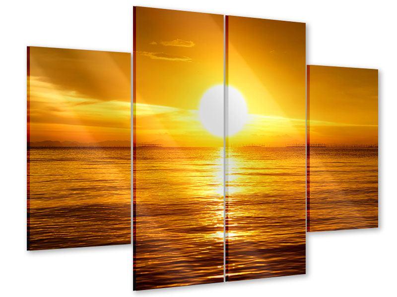 Acrylglasbild 4-teilig Traumhafter Sonnenuntergang