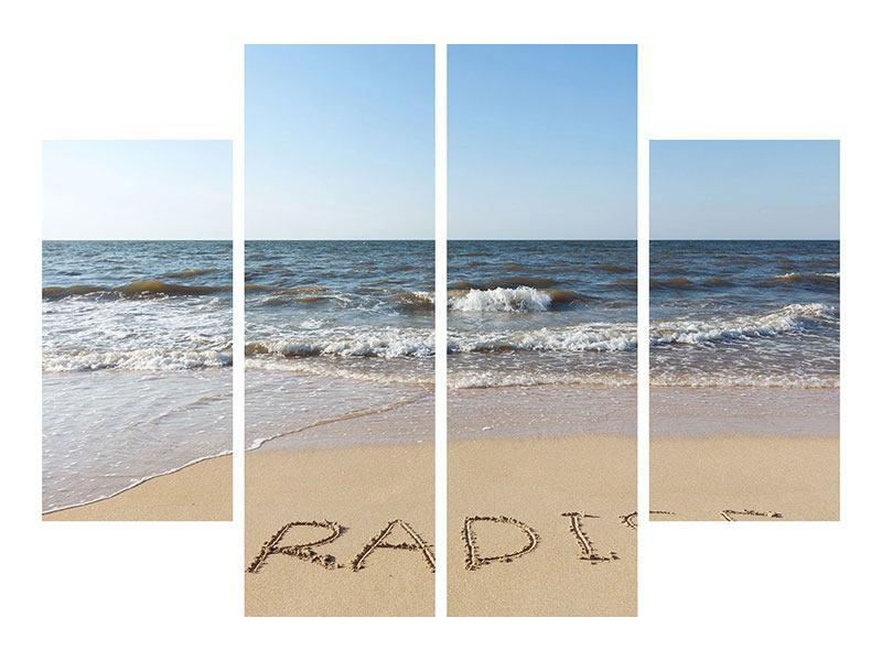 Acrylglasbild 4-teilig Sandspuren