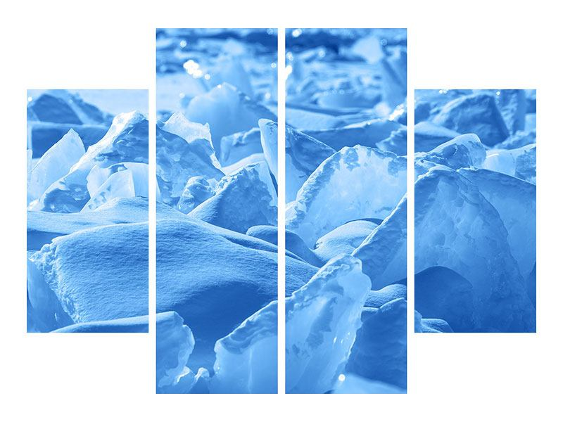 Acrylglasbild 4-teilig Eis des Baikalsees