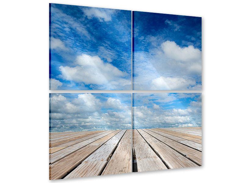 Acrylglasbild 4-teilig Hoch über den Wolken