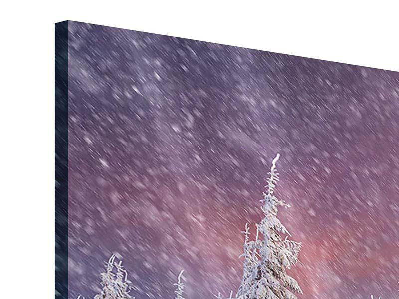 Acrylglasbild 4-teilig Mystischer Schneesturm