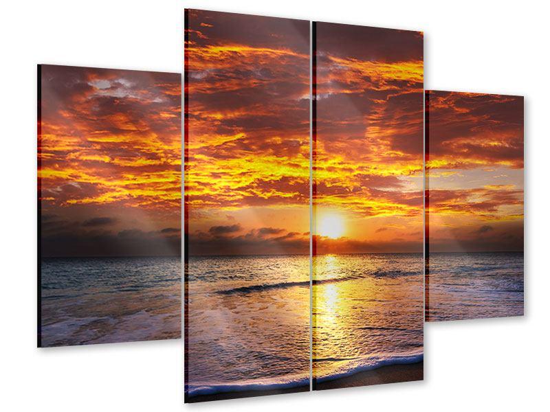 Acrylglasbild 4-teilig Entspannung am Meer