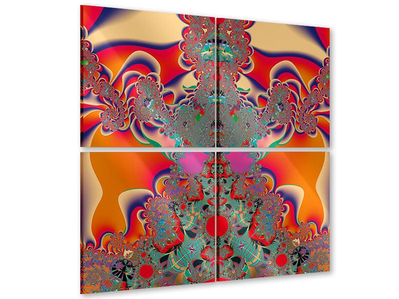 Acrylglasbild 4-teilig Psychedelische Kunst
