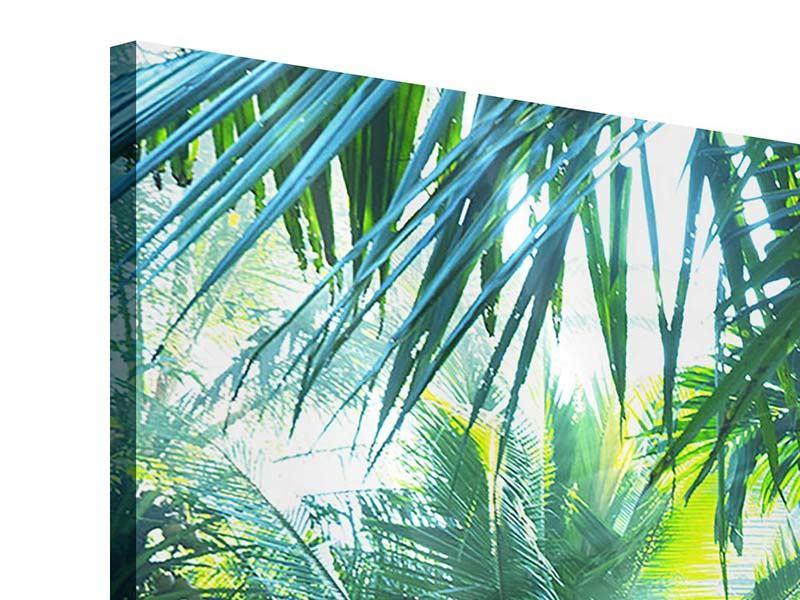 Acrylglasbild 4-teilig Im Tropenwald
