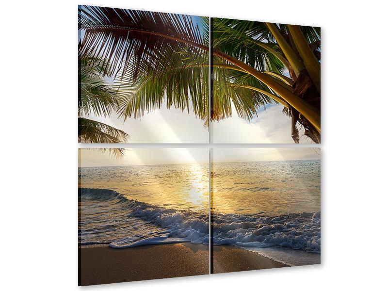 Acrylglasbild 4-teilig Strandsicht