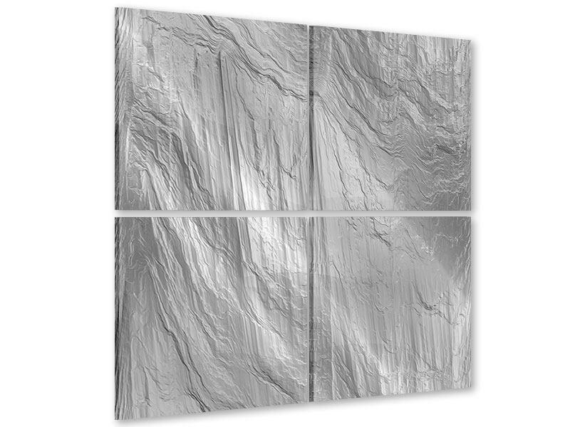 Acrylglasbild 4-teilig Icewall