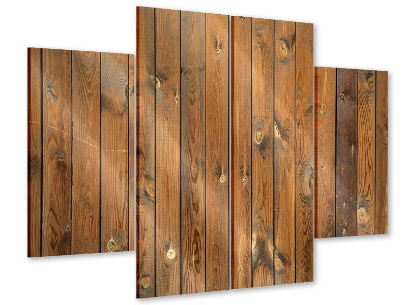 Acrylglasbild 4-teilig Bretterwand