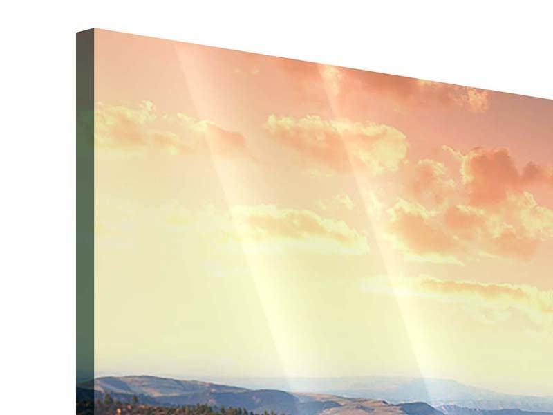 Acrylglasbild 4-teilig Sonnenuntergang Rocky Mountains