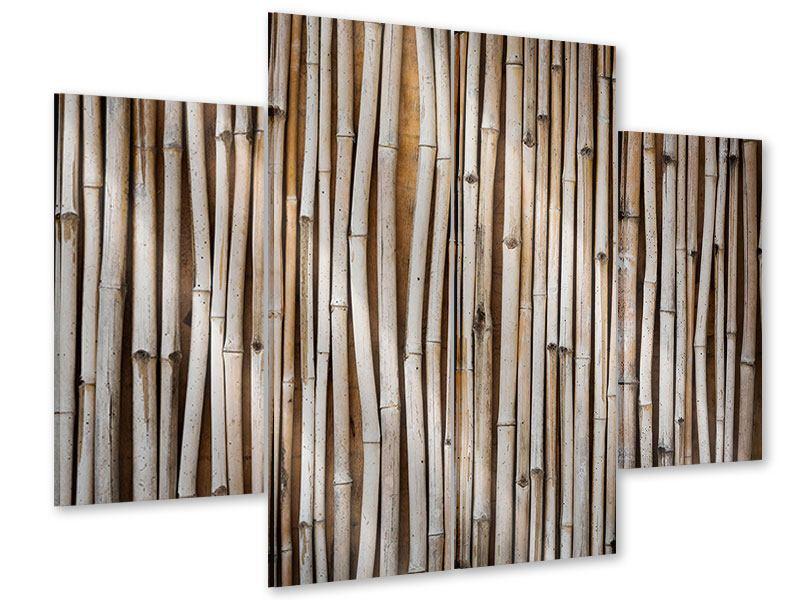 Acrylglasbild 4-teilig Getrocknete Bambusrohre