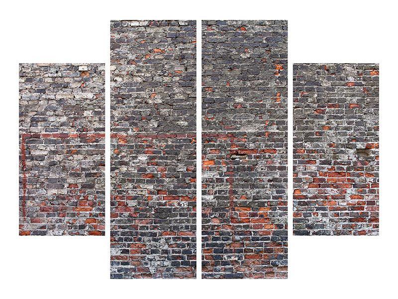 Acrylglasbild 4-teilig Alte Backsteine