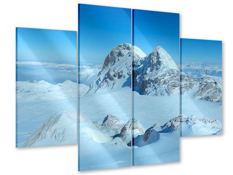Acrylglasbild 4-teilig Über den Wolken
