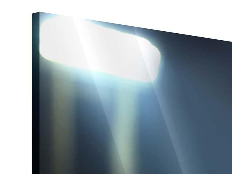 Acrylglasbild 4-teilig Fussballtor