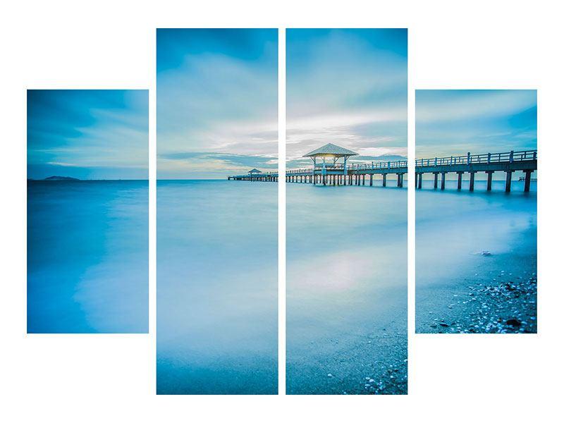 Acrylglasbild 4-teilig Brückenimpression