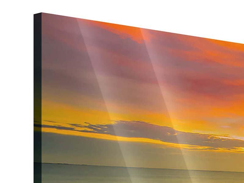 Acrylglasbild 4-teilig Eine Holzbrücke im fernen Osten
