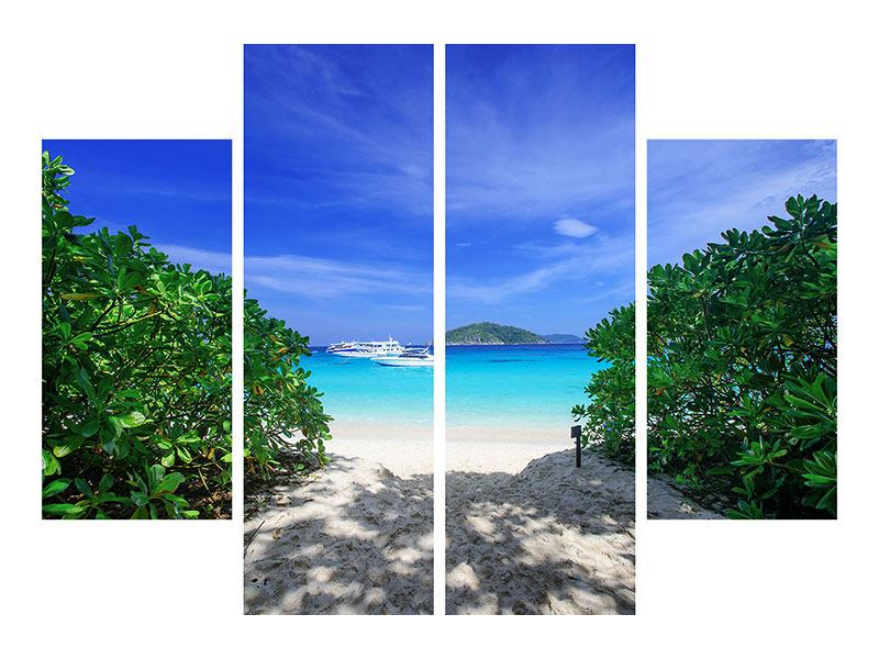 Acrylglasbild 4-teilig Similan-Inseln