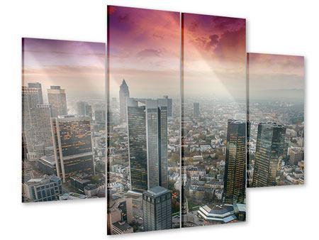 Acrylglasbild 4-teilig Skyline Penthouse in New York