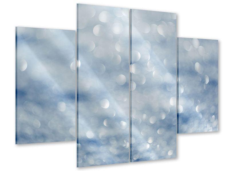 Acrylglasbild 4-teilig Kristallglanz